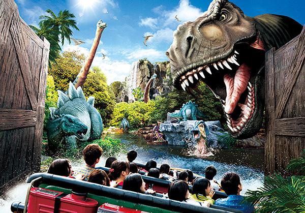 ユニバ恐竜ジュラパが怖い高さ落差を克服する方法整理券はいる
